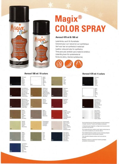 TINTE EN SPRAY MAGIX COLOR 180ML ®, CALZADOS Y